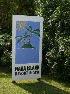 マナ島 看板