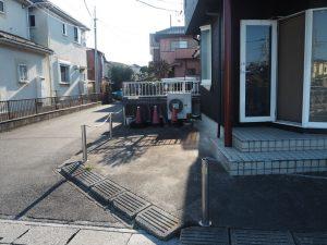 店舗横側駐車場