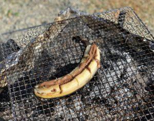 デザートのチョコバナナ